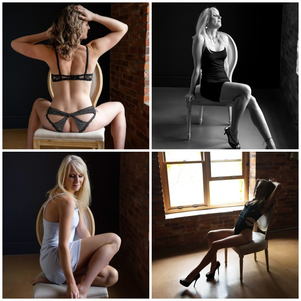 The best furniture for a Boudoir Photography Studio - chair without arms