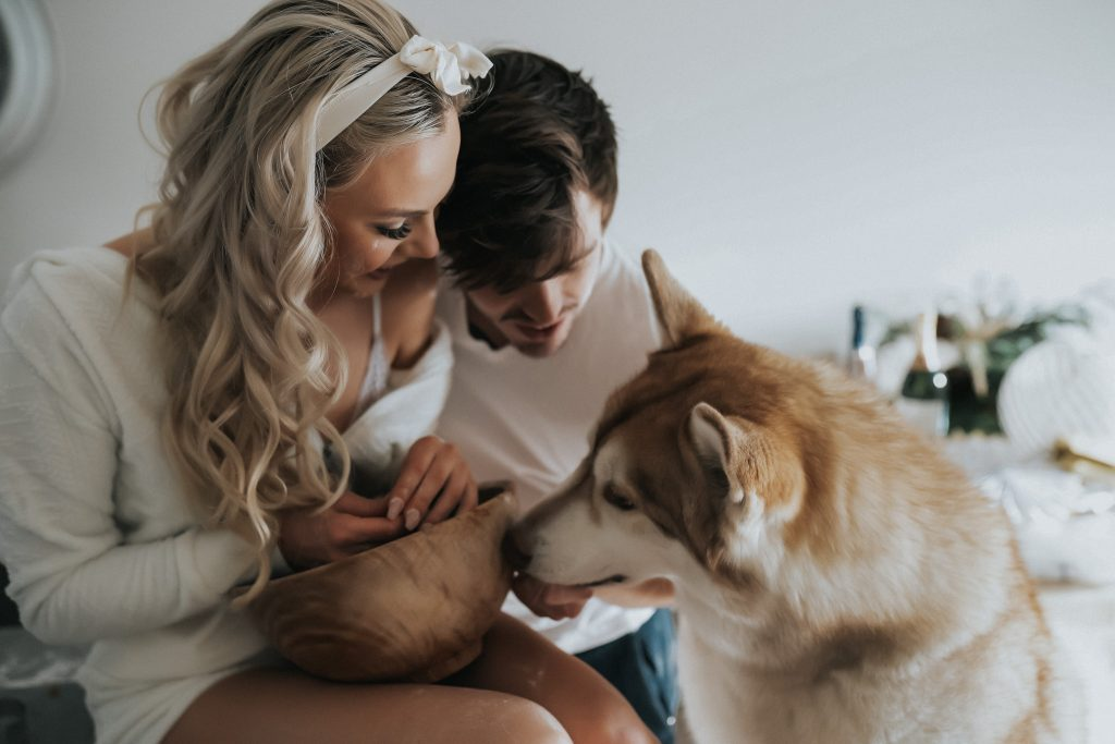 Models with dog