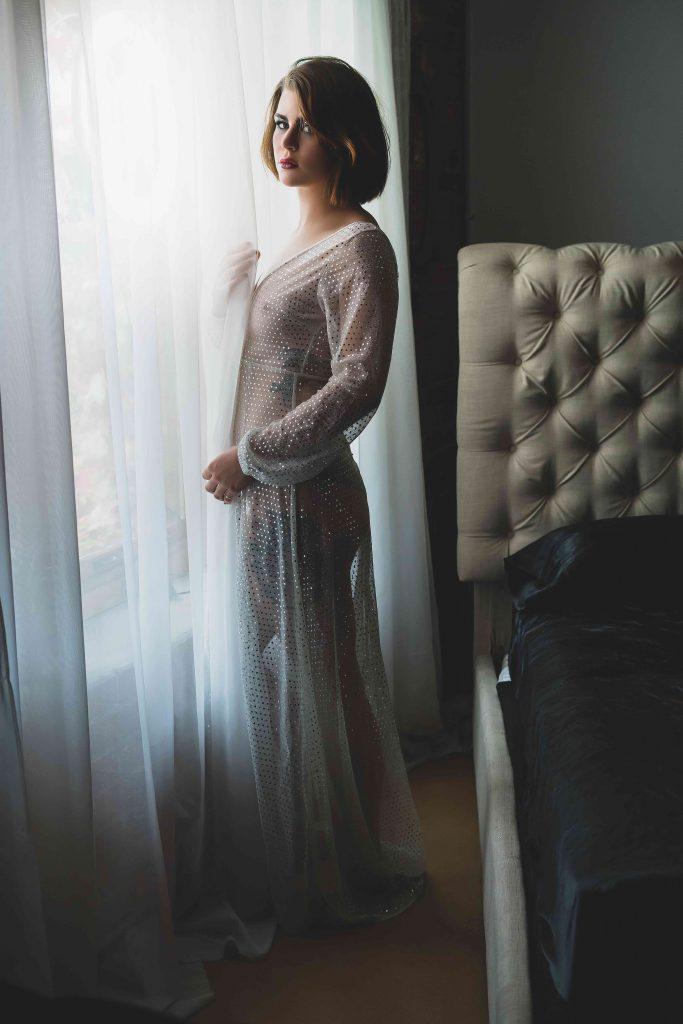 Glamorous white gown