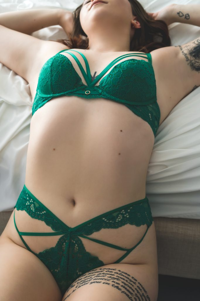 jewel toned green lingerie
