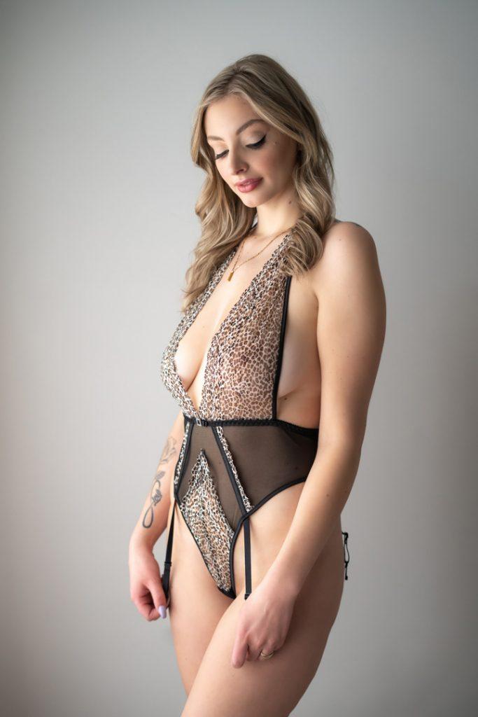 leopard print lingerie